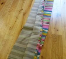 decoupe du tissu en 4 bandes