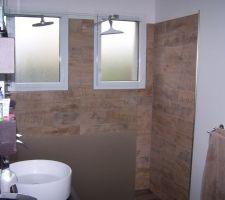 douche italienne baignoire et double vasques