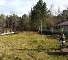notre maison avec vue sur les pins