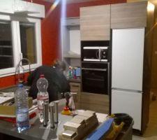 La cuisine quasiment terminée