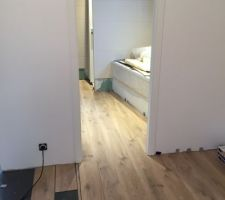 Chambre 1 en Quickstep balance click BACL40018 Chene Flotté Beige