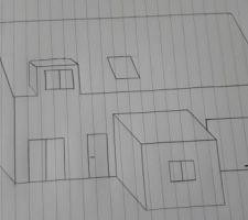 loin d etre douee en dessin mais voila grossierement a quoi devrais ressembler notre maison