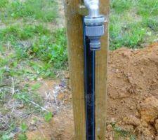 installation des premieres bornes de points d eau