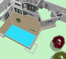 Plan d'implantation des lambourdes de terrasses