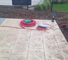 plomberie pour irrigation du jardin