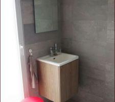 Salle de douche terminée