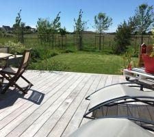 la terrasse bientot nettoyee et saturee