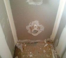 bati support wc suspendus et coffrage jusqu au plafond