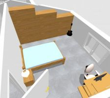 Vue combles chambre 2
