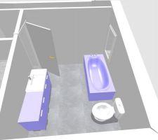 vue combles salle de bain