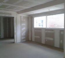 la salle salon bureau au fond 50 m2