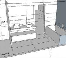 Idée pour la disposition de notre salle de bain