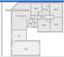 maison de 100m2 4 chambres et garage de 26m2