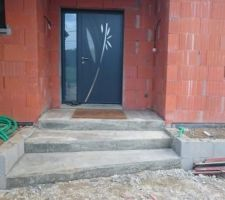 Fabrication de l escalier à l'entrée