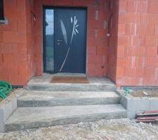 fabrication de l escalier a l entree