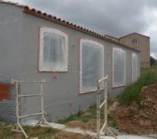 Le début de la mise en couleur de la maison ;-)