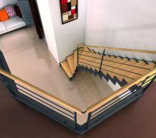 escalier riaux metal