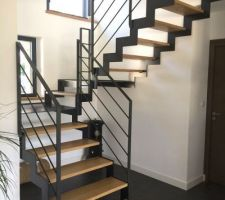 escalier fabric metal en metal