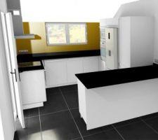 Vue 3D de la cuisine