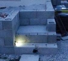 Les premiers tests de lumière pour les escaliers