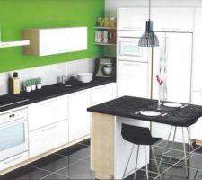 Visuel de la cuisine sans la verrière