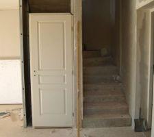 3 aout : début placard escalier