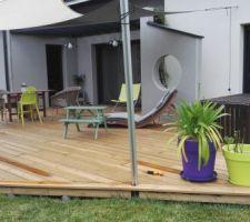 Terrasse bois vue générale