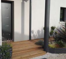 terrasse bois porche d entree