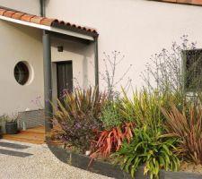 Terrasse bois - porche entrée