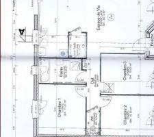 plan de la maison avec local technique dans la cuisine place a changer