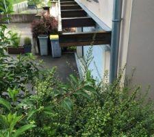 Reprise poutre garage, préparation avancée de toiture plate, bardage viroc.