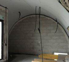 Plafond cintree chambre parentale