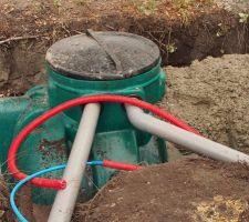 les gouttieres arrivent dans la cuve de recuperation d eau de pluie