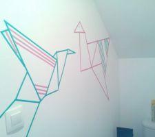masking tape murale