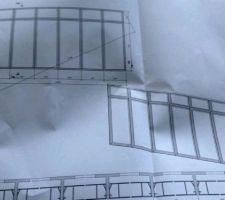 Voilà le plan de notre verrière, elle fera 2.50m de long sur 1.55 il me semble :)