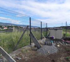 Début de clôture