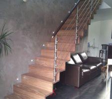 escalier droit gar en pin densifie