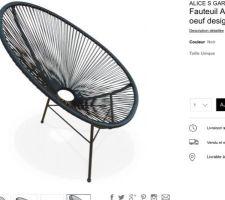 Acapulco et oui on peut rêver rien que par le nom de nos fauteuils ..........