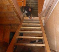 Mise en place escalier
