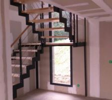 escalier plasse qui nous a coute une blinde mais qui rend bien