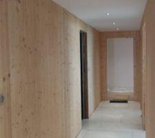 couloir eclairage spots led