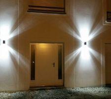 Éclairage en façade