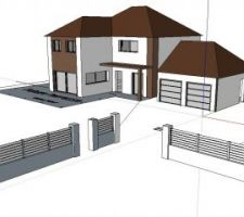 Une idée du futur mur de clôture