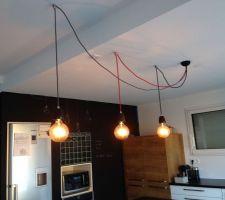 Les luminaires de la cuisine