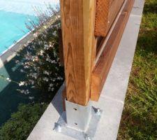 Pieds de clôture fixé avec des vis à frapper