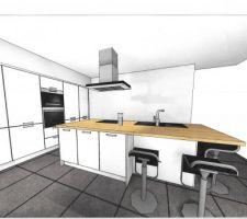 plan 3d cuisine ixina