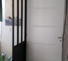 Voila notre cloison atelier est enfin posée !!!  Ravie du résultat !!