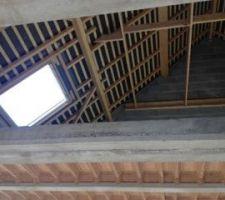 vue sur l etage de l emplacement de l escalier