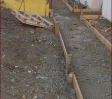 Préparation des accès à la maison, allées et escalier