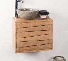 lave mains wc teck vernis largeur 60 cm